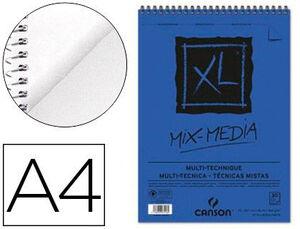 BLOC ESPIRAL DIBUJO CANSON XL MULTITECNICAS MIX MEDIA TEXTURADO A4 30 HJ 300 GR