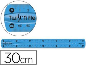 REGLA PLANA TWIST FLEXIBLE 30CM