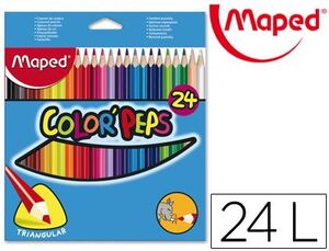 CAJA 24 LAPICES COLORPEPS MAPED COLORES SURTIDOS