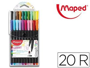 ROTULADOR FINO GRAPH PEPS E-20 COLORES