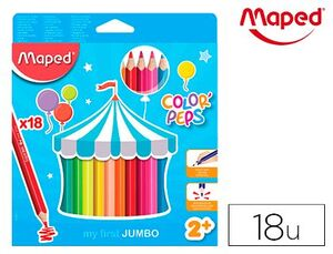 CAJA 18 LAPICES ACUARELABLES MAPED COLORES SURTIDOS
