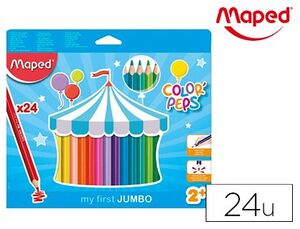 CAJA 24 LAPICES ACUARELABLES MAPED COLORES SURTIDOS