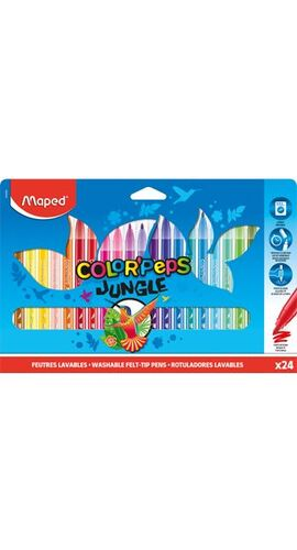 CAJA 24 ROTULADORES MAPED COLORPEPS JUNGLE COLORES SURTIDOS