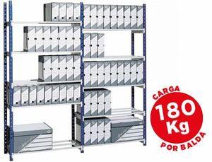ESTANTERIA FAST-PAPERFLOW METALICA AZUL 5 ESTANTES GRIS 180KG POR ESTANTE 900KG POR MODULO 200X100X3