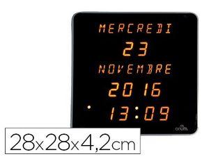 RELOJ ORIUM DIGITAL LED AMARILLO FONDO NEGRO 28X28X4,2 CM