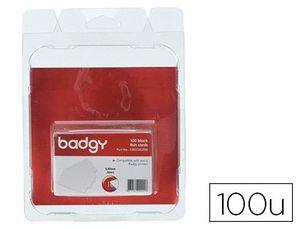 TARJETA PVC PARA IMPRESORA BADGY GROSOR 0,50 MM PACK DE 100 UNIDADES