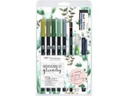 SET ROTULADORES PINCEL TOMBOW WATERCOLORING GREENERY