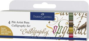 PACK 4 ROTULADORES PITT ARTIST CALLIGRAPHY