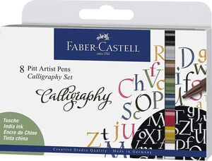 PACK 8 ROTULADORES PITT ARTIST CALLIGRAPHY