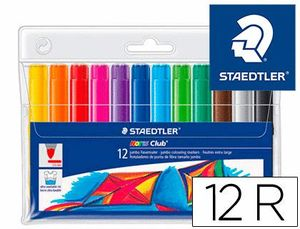 ROTULADOR FIBRA WATERCOLOUR 340 ESTUCHE 12 COLORES