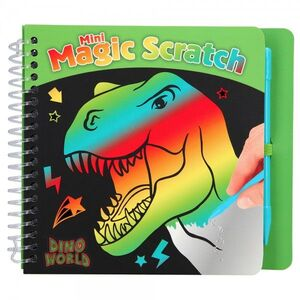 LIBRO ESCRITURA MINI MAGIC SCRATCH DINO WORLD