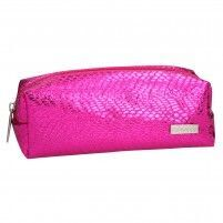 ESTUCHE TUBULAR TOP MODEL ESTAMPADO SERPIENTE ROSA