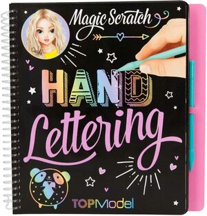 LIBRO COLOREAR MAGIC SCRATCH TOP MODEL HAND LETTERING