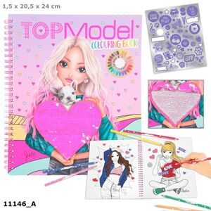 LIBRO PARA COLOREAR CON LENTEJUELAS TOP MODEL FRIENDS