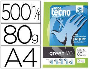 PAPEL TECNO GREEN 100% RECICLADO A4 80 GR 500 HJ