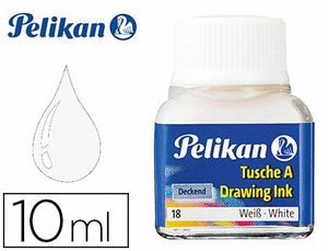 TINTA CHINA PELIKAN BLANCA FRASCO 10 ML