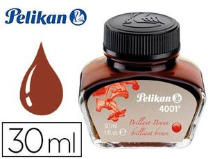 TINTA ESTILOGRAFICA PELIKAN 4001 MARRON BRILLANTE FRASCO 30 ML