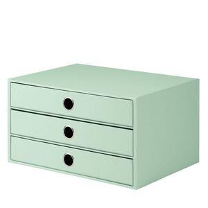 BOX 3 CAJONES A4 CARTON DURO ROSSLER S.O.H.O. MENTA