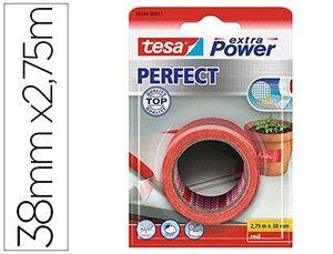 CINTA ADHESIVA TESA TEXTIL EXTRA POWER PERFECT 2,75 M X 38 MM ROJO