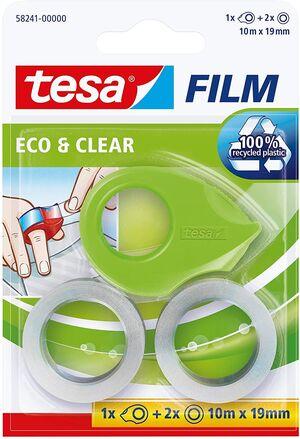 MINI DISPENSADOR TESA ECO + 2 FILM TRANSP 19 MM X 10 M
