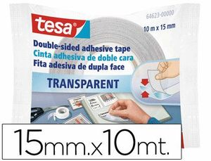 CINTA DOBLE CARA TESA 10 MT X 15MM