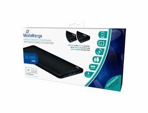 CARGADOR PORTATIL MEDIARANGE POWERBANK 25000 MAH 3 SALIDAS USB FUNCION DE CARGA RAPIDA BATERIA POLIM