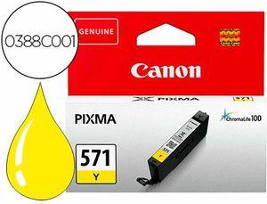 INK-JET CANON CLI 571 PIXMA TS5051 / TS6050 / TS8051 / TS9050 / AMARILLO 161 PAGINAS