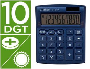 CALCULADORA CITIZEN SOBREMESA SDC-810 NRNVE 10 DIGITOS 124X102X25 MM AZUL