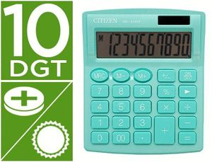 CALCULADORA CITIZEN SOBREMESA SDC-810 NRGNE 10 DIGITOS 124X102X25 MM VERDE