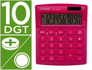 CALCULADORA CITIZEN SOBREMESA SDC-810 NRPKE 10 DIGITOS 124X102X25 MM ROSA