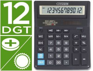 CALCULADORA CITIZEN SOBREMESA SDC-888 HB 12 DIGITOS