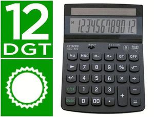 CALCULADORA CITIZEN SOBREMESA ECO ECC-310 12 DIGITOS