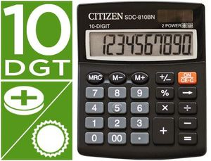 CALCULADORA CITIZEN SOBREMESA SDC-810 BN 10 DIGITOS NEGRO