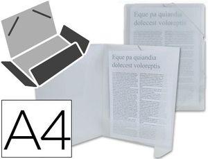 CARPETA LIDERPAPEL GOMAS SOLAPAS PP A4 INCOLORA