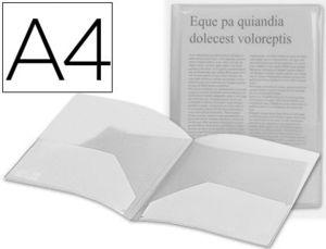 CARPETA LIDERPAPEL DOSSIER DOS BOLSAS 35584 POLIPROPILENODIN A4 INCOLORA