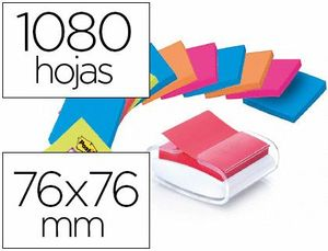 SOPORTE BLOC DE NOTAS ADHESIVAS QUITA Y PON POST-IT SUPER STICKY Z NOTES COLOR BLANCO CON 12 BLOC 76