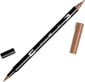 ROTULADOR TOMBOW DOBLE PUNTA MARRON CUERO PINCEL DUAL BRUSH 977