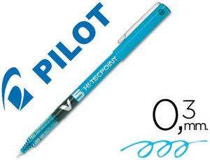 ROTULADOR PILOT V-5 AZUL CLARO