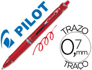 BOLIGRAFO PILOT ACROBALL TINTA ACEITE 1,0 MM RETRACTIL ROJO