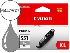 INK-JET CANON 551 XL PIXMA IP7250 / MG5450 / MG6350 GRIS