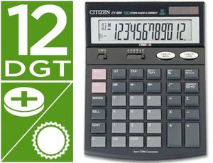 CALCULADORA CITIZEN SOBREMESA CT-666 12 DIGITOS