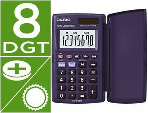CALCULADORA BOLSILLO 8 DIGITOS CASIO HS-8VER