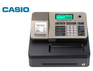REGISTRADORA CASIO SE-S100 DORADO 24 DEPARTAMENTOS DISPLAY LCD CAJON PEQUEÑO