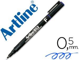 ROTULADOR ARTLINE RETROPROYECCION PUNTA FIBRA PERMANENTE EK-853 AZUL -PUNTA REDONDA 0.5 MM