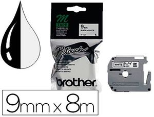 CINTA BROTHER MK-221 BLANCO-NEGRO 9MM LO