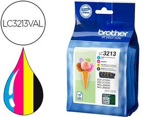 INK-JET BROTHER LC3213 DCP-J572 / DCP-J772 / MFC-J890PACK 4 COLORES NEGRO AMARILLO CIAN MAGENTA