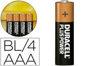 PILA DUARACELL AAA LR03 PLUS POWER PAQ 4 UD