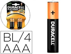 PILAS AAA RECARGABLES HR03 DURACELL BLISTER 4 UD