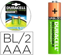 PILA DURACELL RECARGABLE STAYCHARGED AAA 800 MAH BLISTER 2 UD