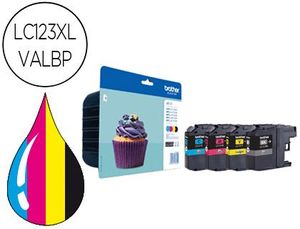 INK-JET BROTHER DCP-J4110DW MFC-J4410DW/4510DW/ 4710DW/6520DW 6720DW/6920DW PACK 4 COLORES -600 PAG